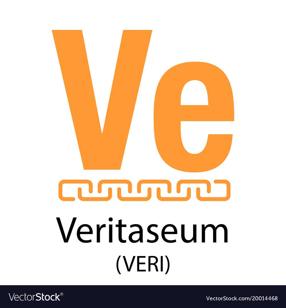 Veritaseum cryptocurrency symbol vector image