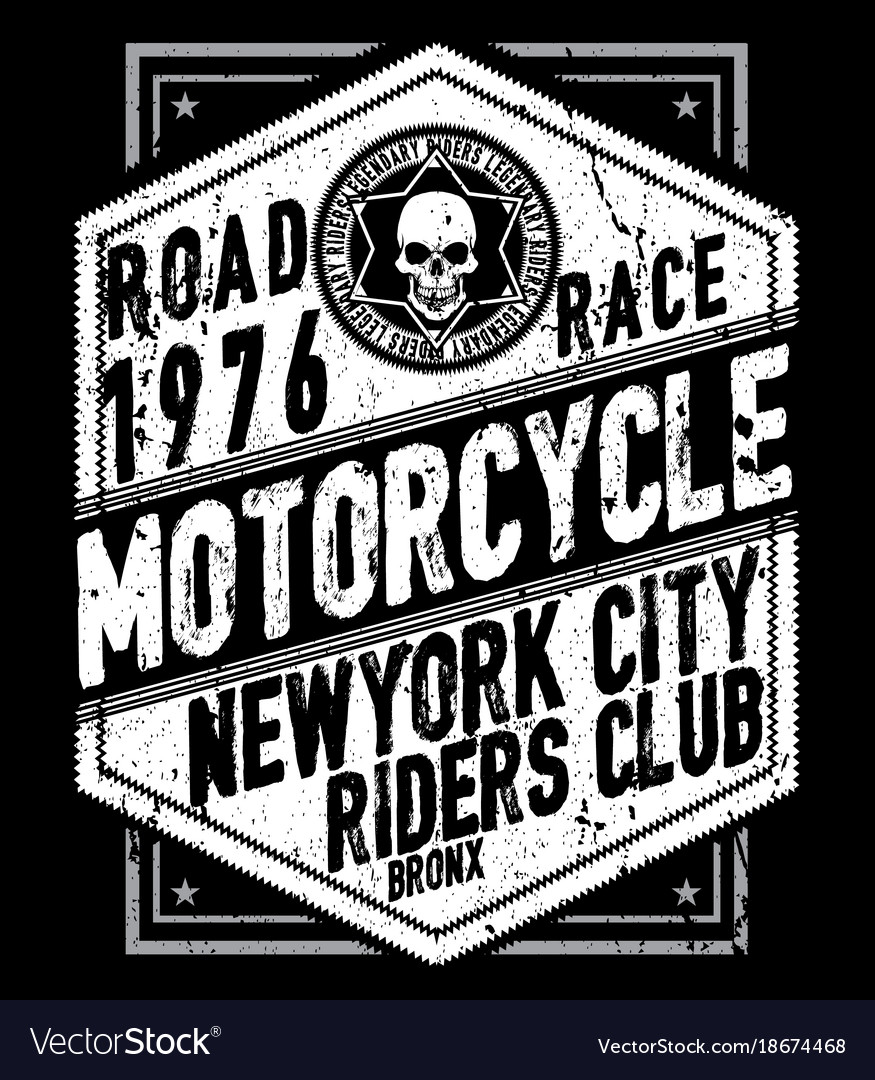 Vintage motorcycle labels badges and design