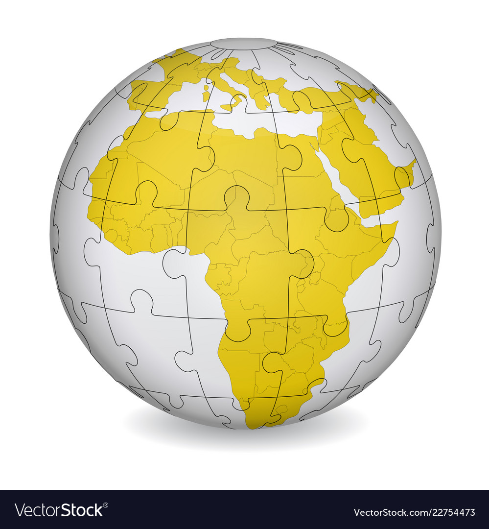 Cartographic puzzle of africa