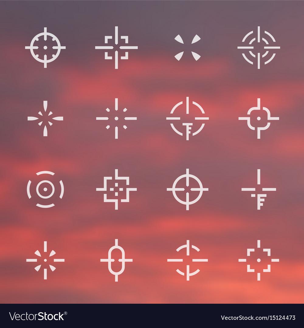 Crosshairs set different sights