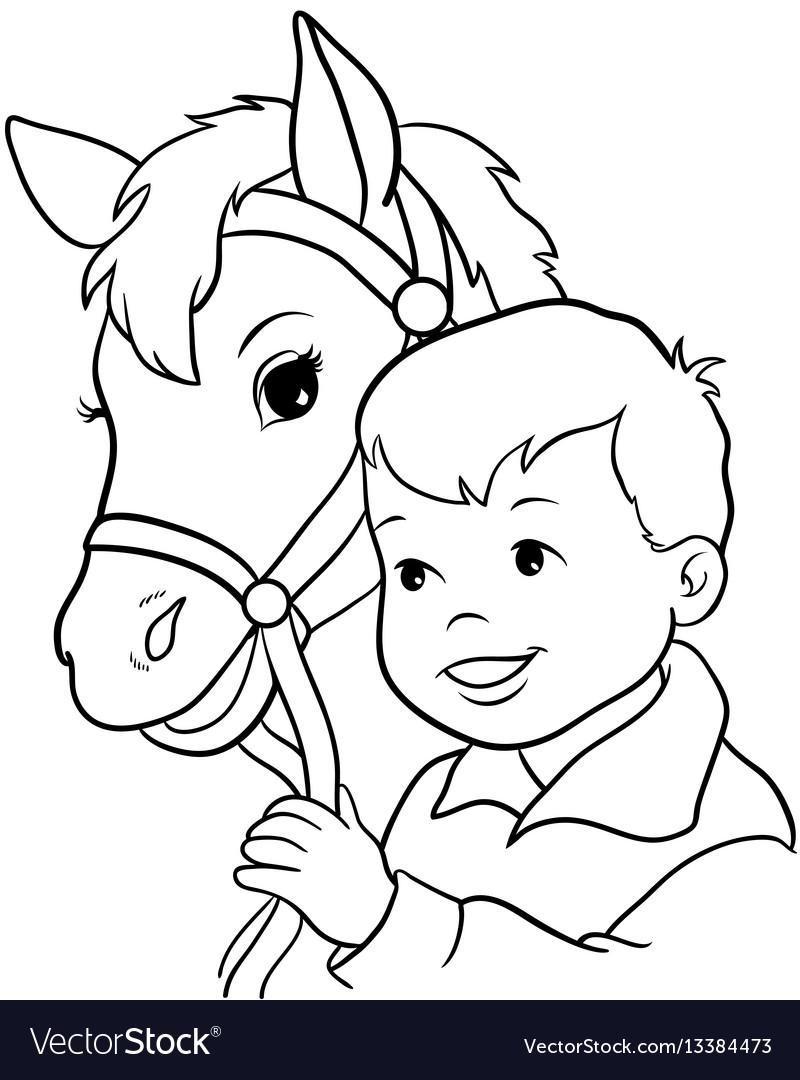 Cute little girl riding a horse