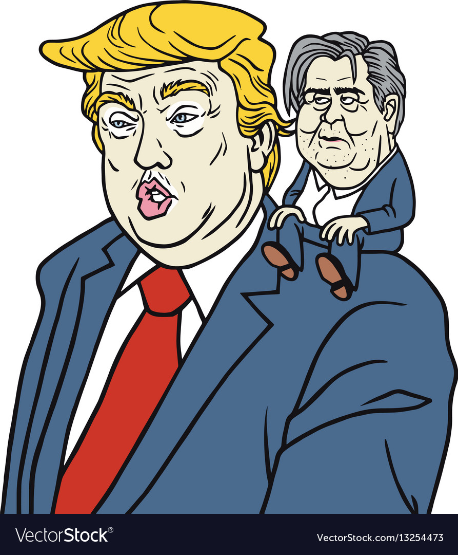 Donald trump with chief strategist steve bannon