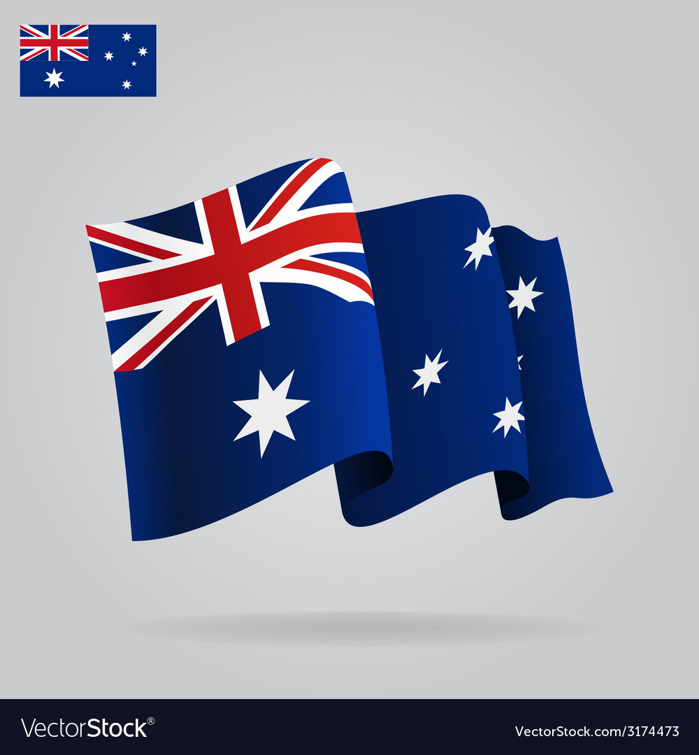 Flat and waving Australian Flag