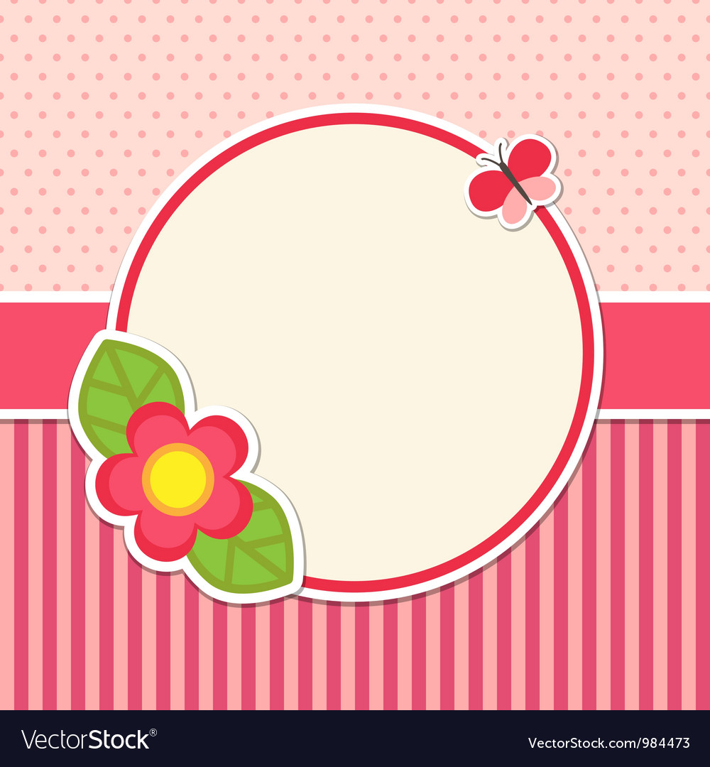 Frame with flower