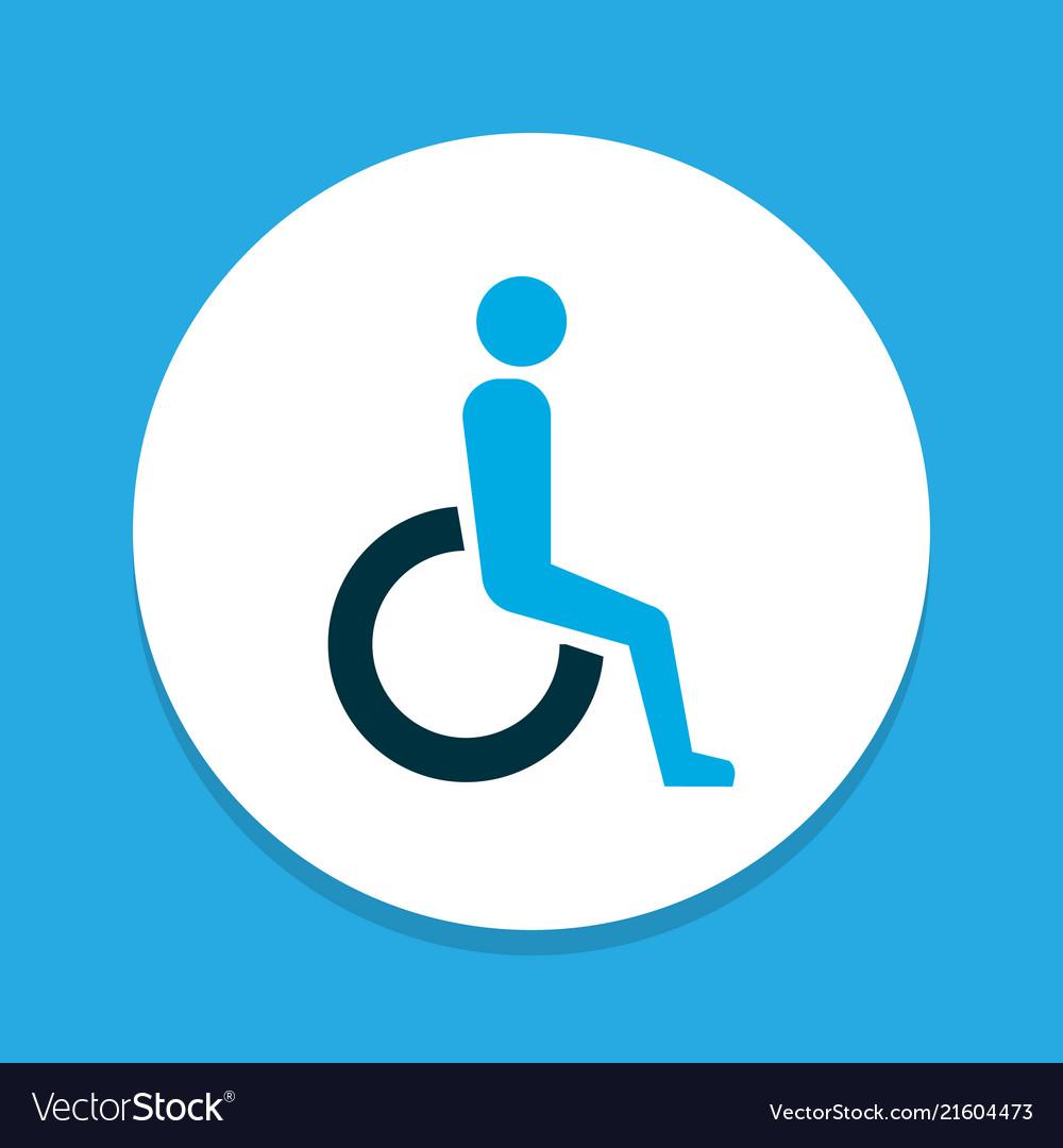 Handicapped icon colored symbol premium quality