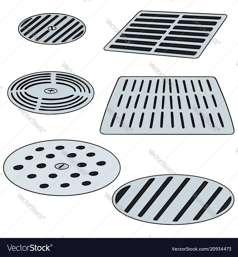 Set of cover the drain