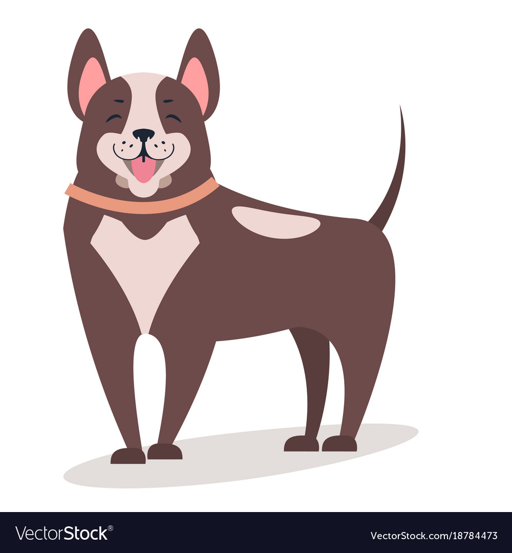 Smiling dog isolated on white flat vector image