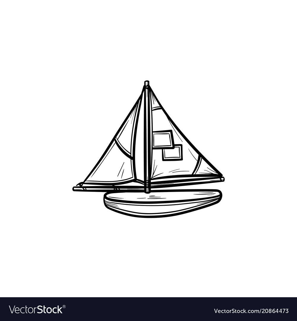 Toy model of a ship hand drawn outline doodle icon