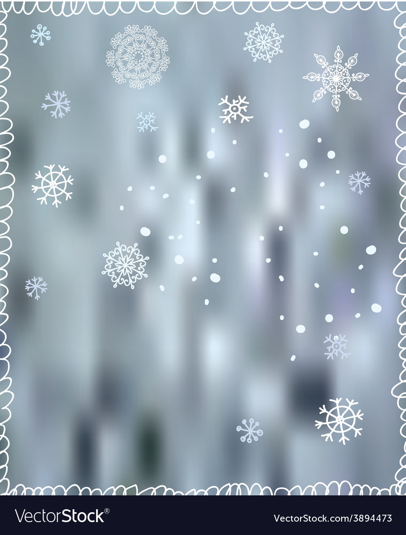 Winter background with snowflakes - for Christmas