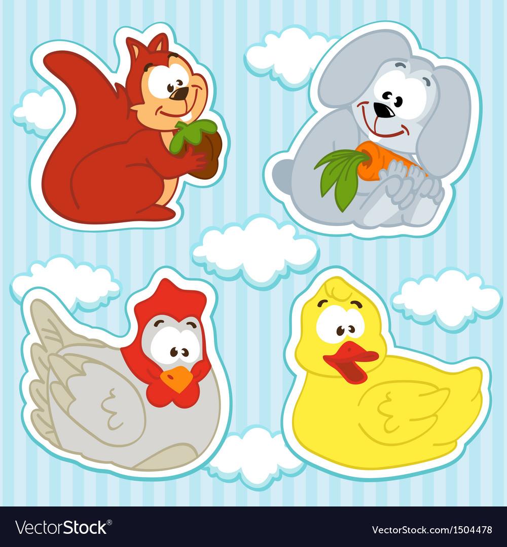 Animal and bird icon set