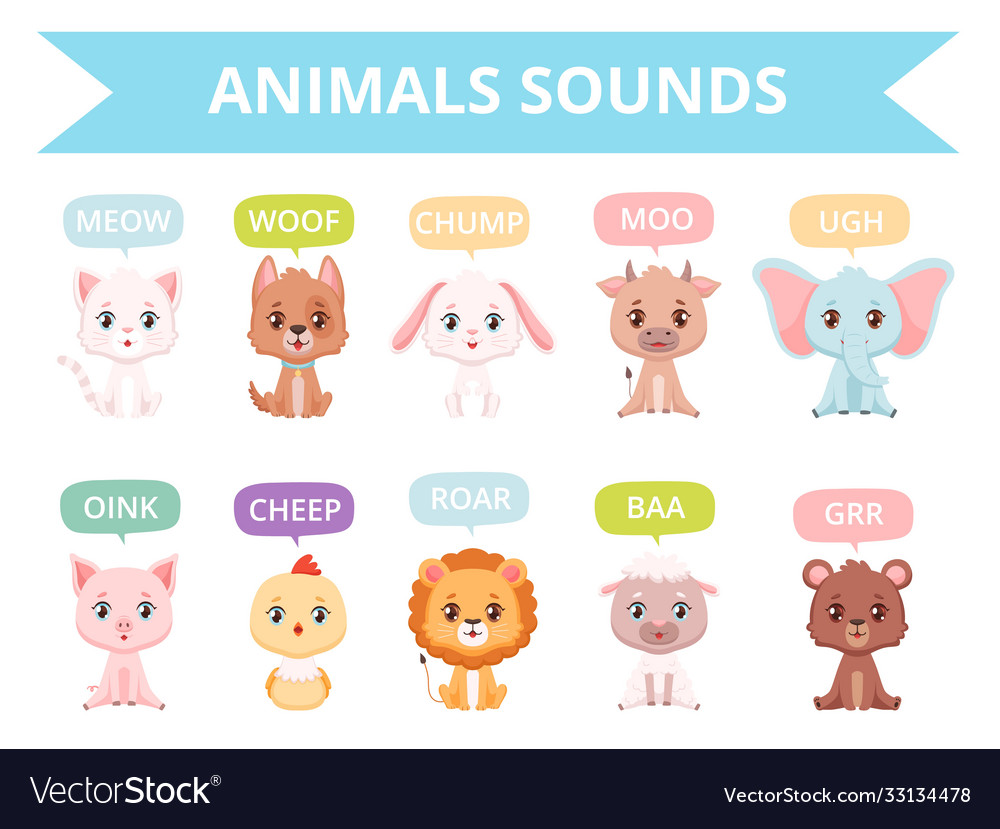 Animals sounds zoo birds cats dogs farm animals