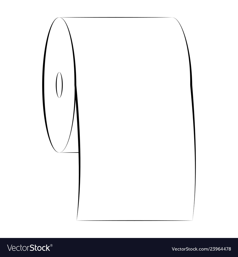 Icon sign roll toilet paper symbol