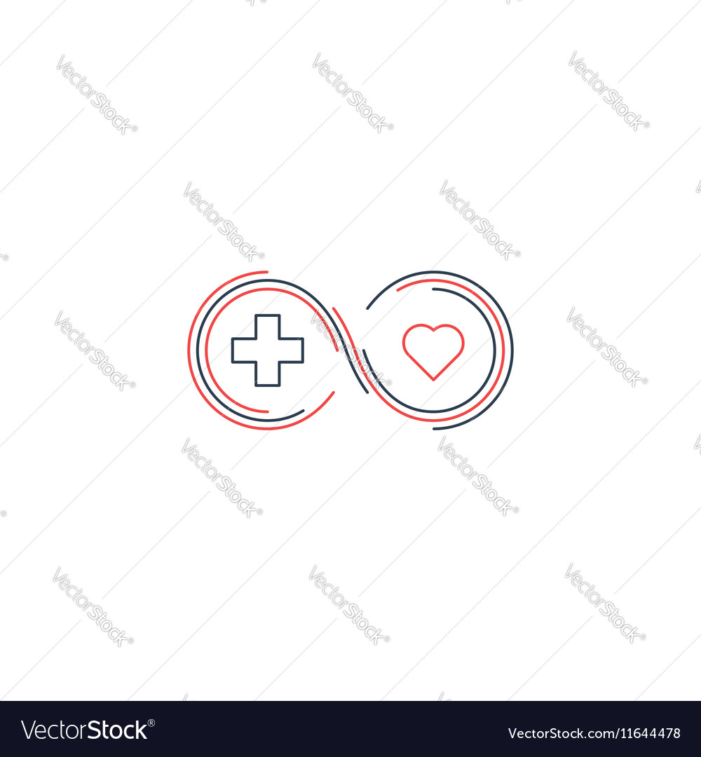 Medical health insurance icon and logo concept