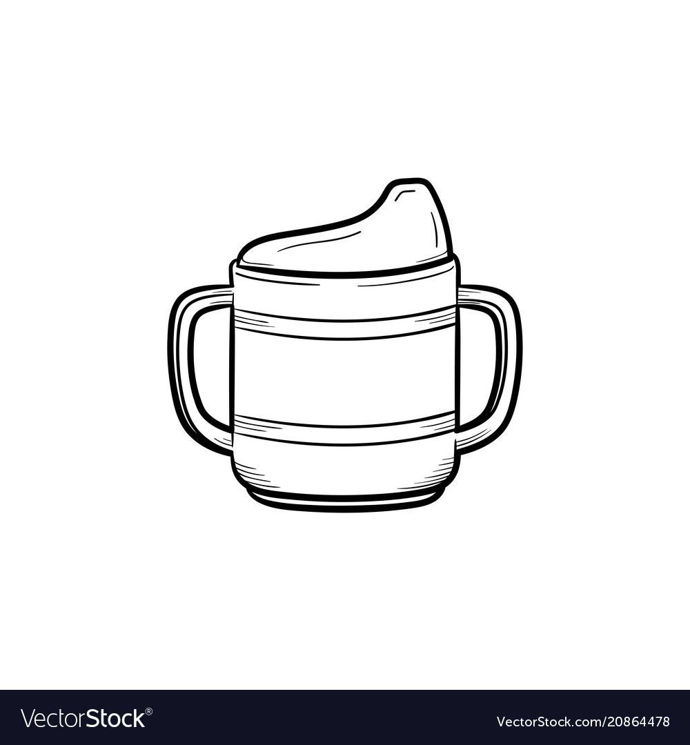 Nutrition bottle hand drawn outline doodle icon