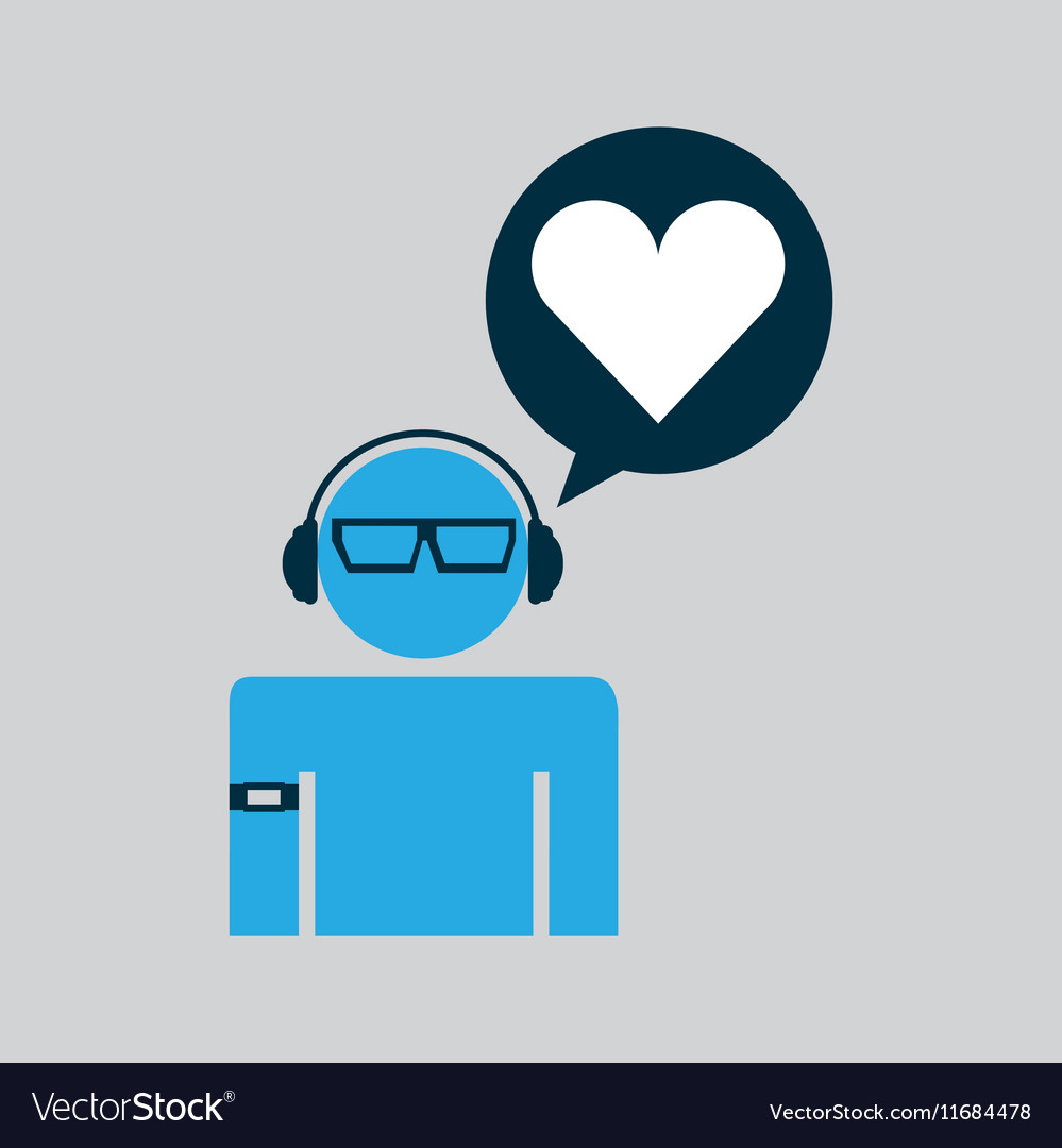 Silhouette wearable technology love heart