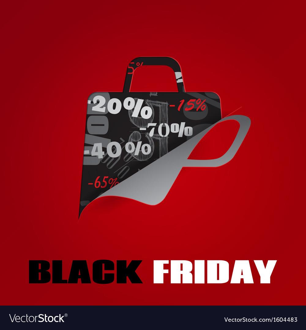 Background on Black Friday vector image