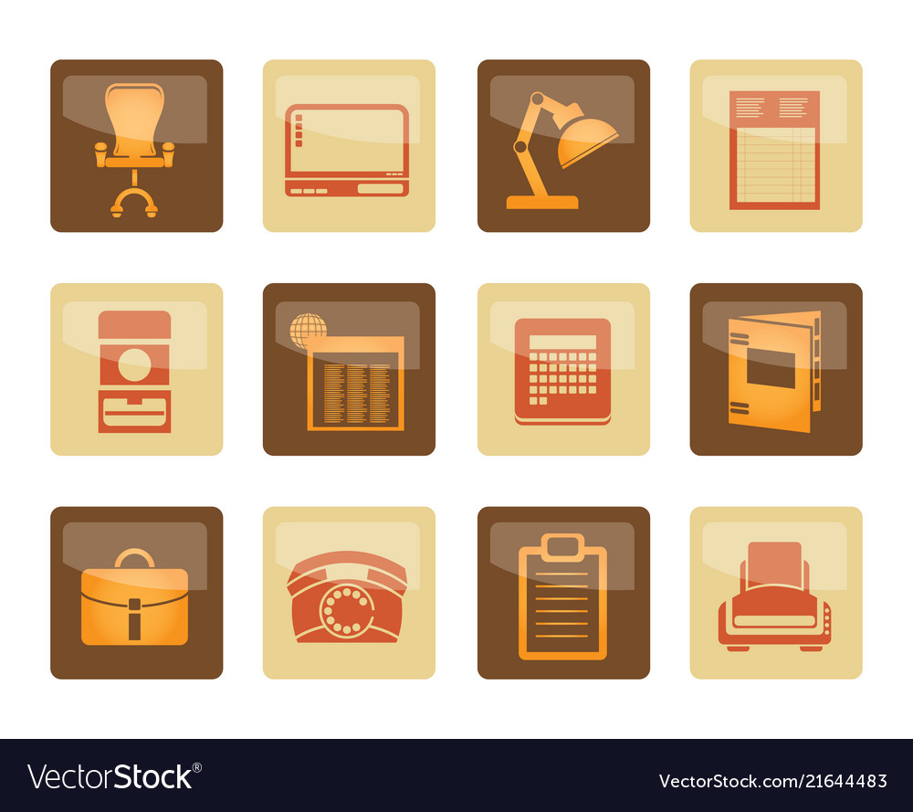 Business office and firm icons