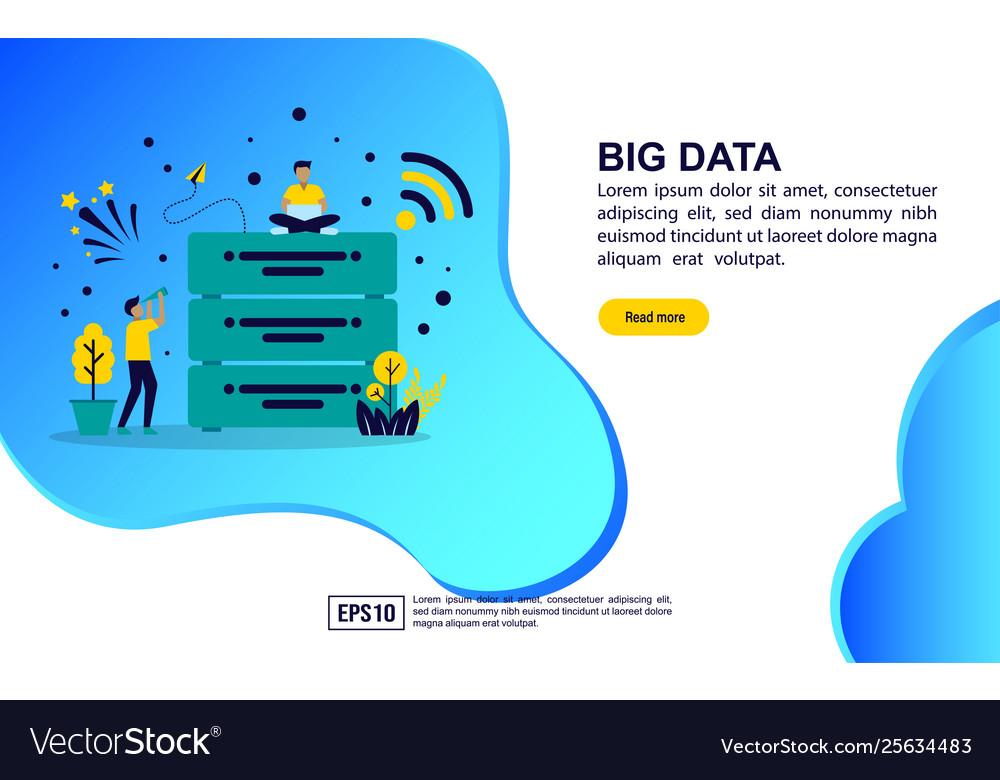 Concept big data modern conceptual for banner