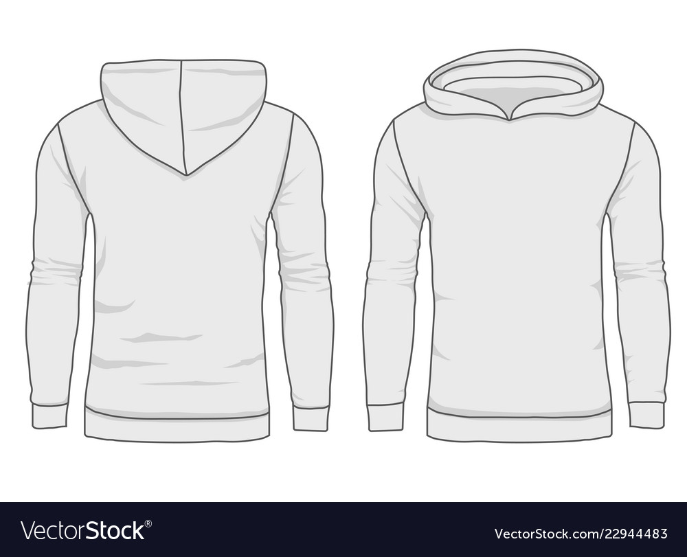 Hoody fashion sweatshirt template realistic