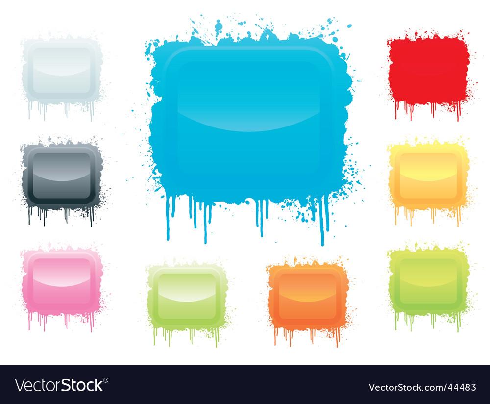Ink splatter board vector image