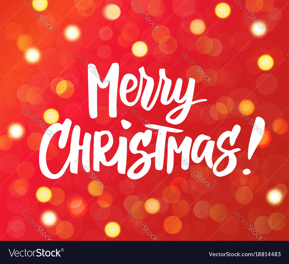 Merry christmas text holiday greetings quote vector image m4hsunfo