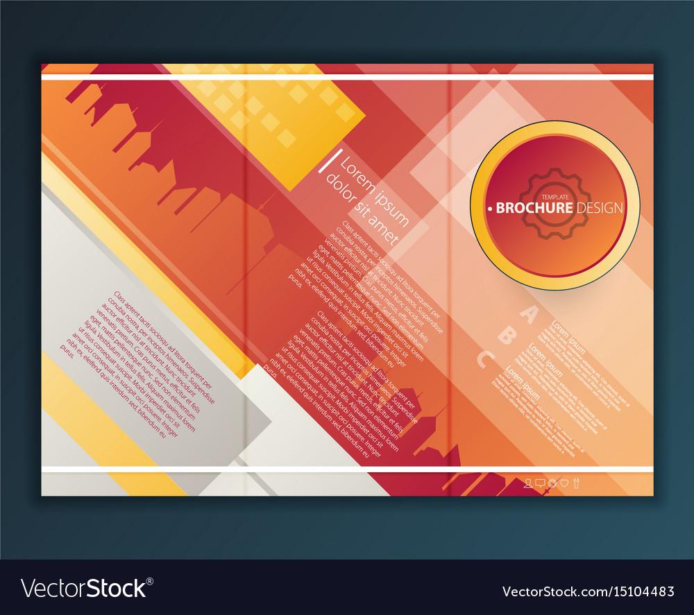 modern tri fold brochure design template vector image