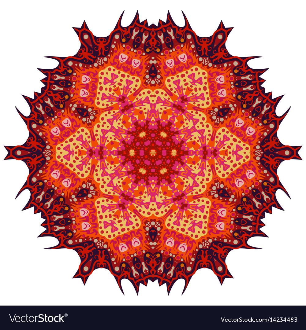 Red mandala ethnic decorative elements