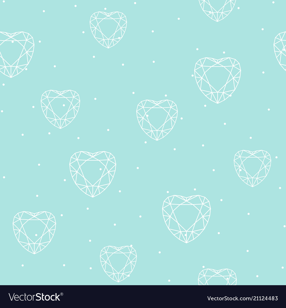 Seamless pattern with polygonal heart