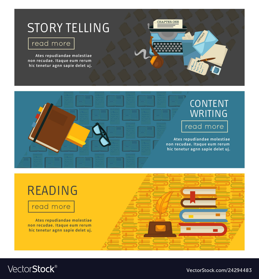 Story telling and content writing reading web page
