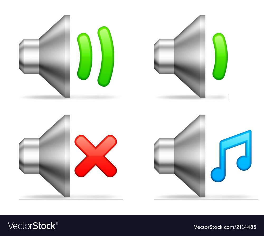 Audio volume icons vector image