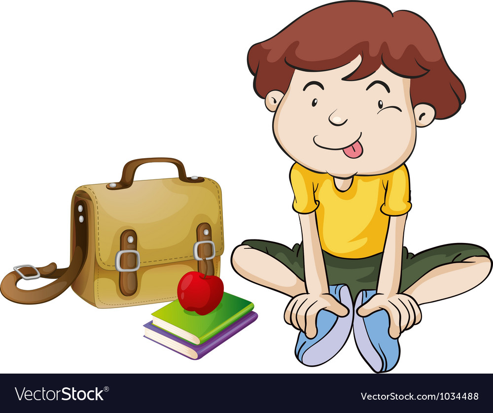 Boys and book vector image