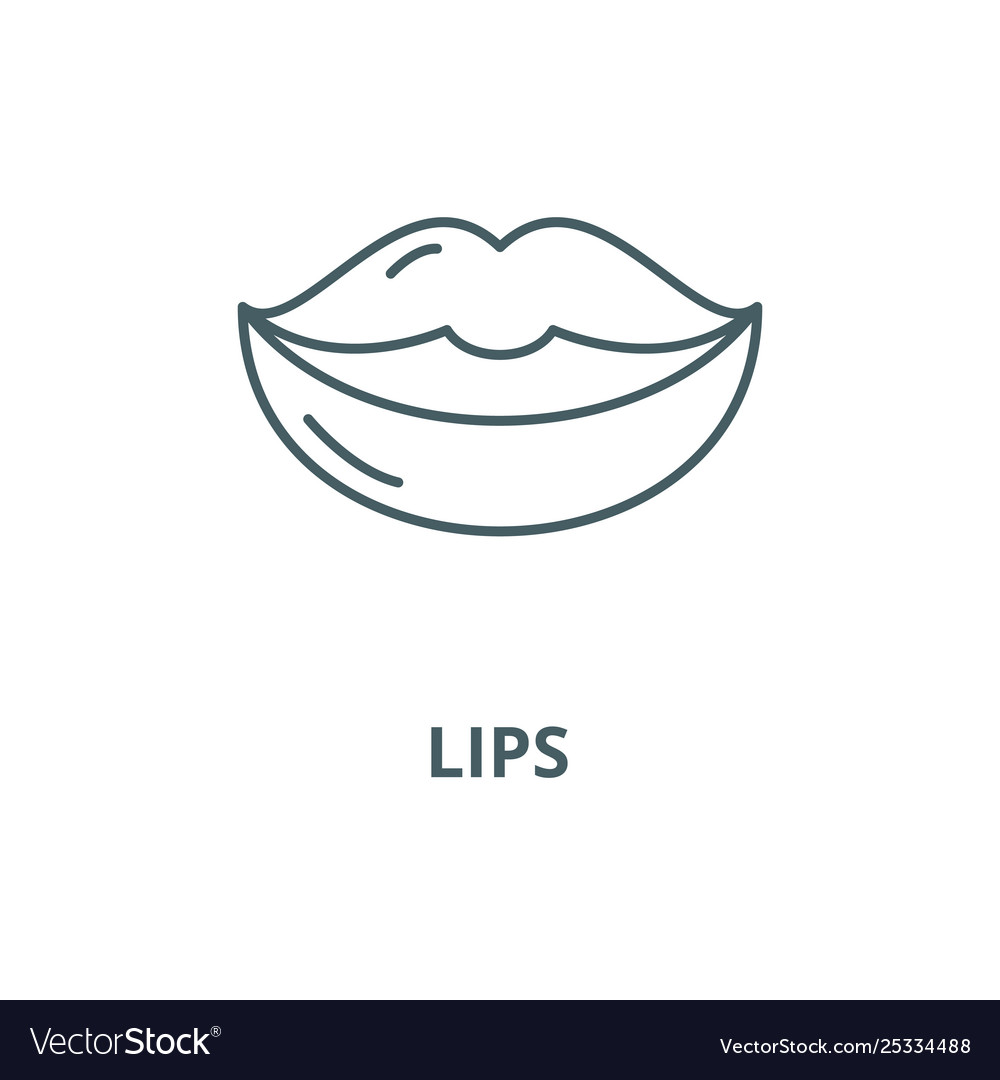 Lips line icon linear concept outline