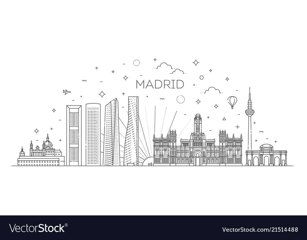 Madrid skyline spain
