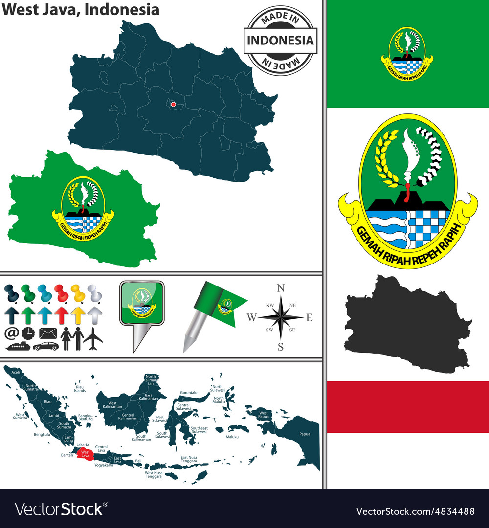 Map of West Java