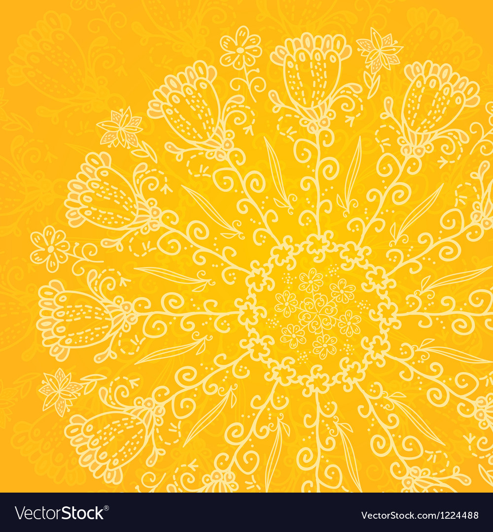 Vintage ethnic ornament orange background