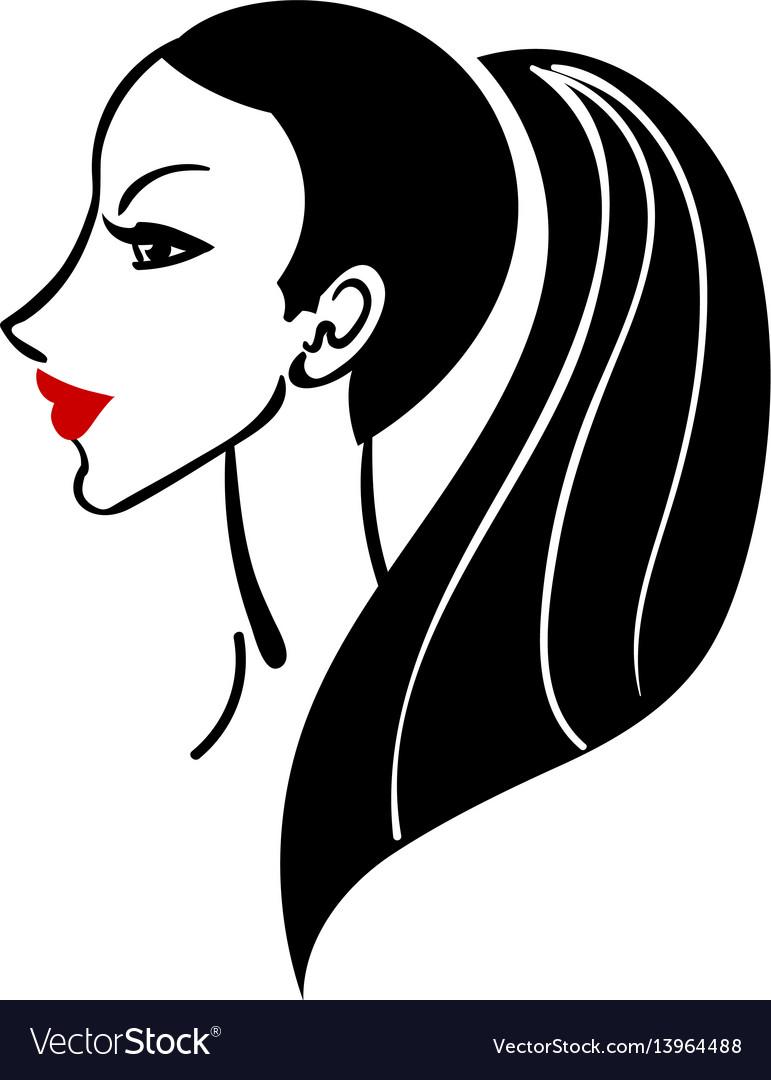 Women long hair style icon