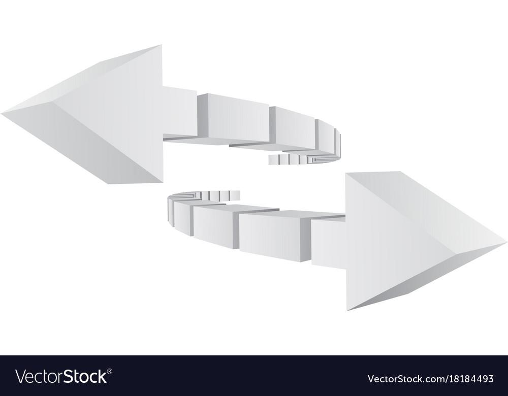 3d arrows logo design
