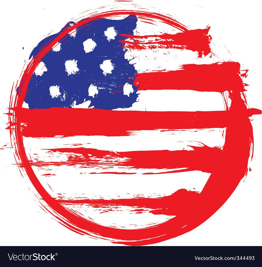 America circle flag