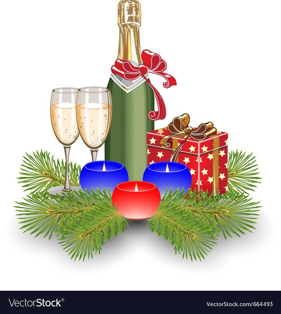 Champagne gift box christmas