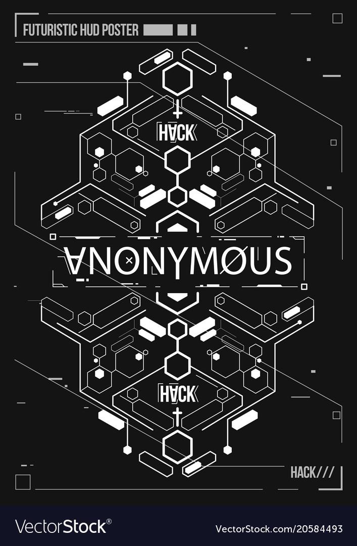 Cyberpunk futuristic poster retro futuristic vector image