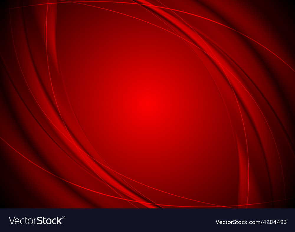 Dark red smooth wavy background