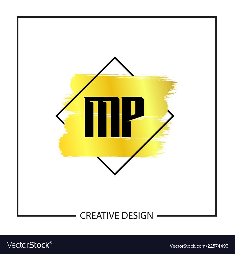 Initial mp letter logo template design