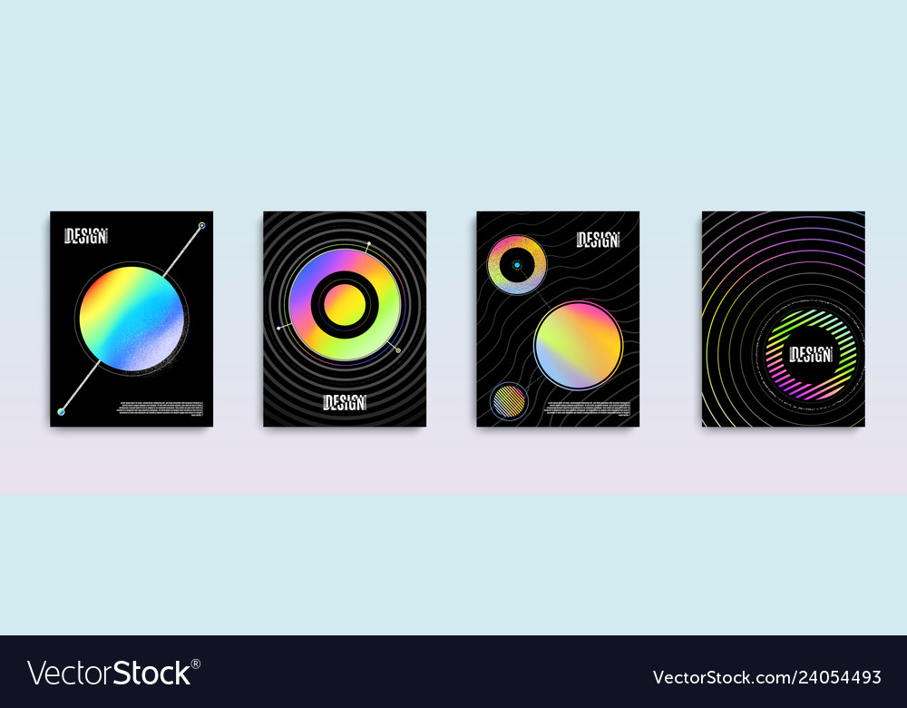 Minimal abstract holographic cover design