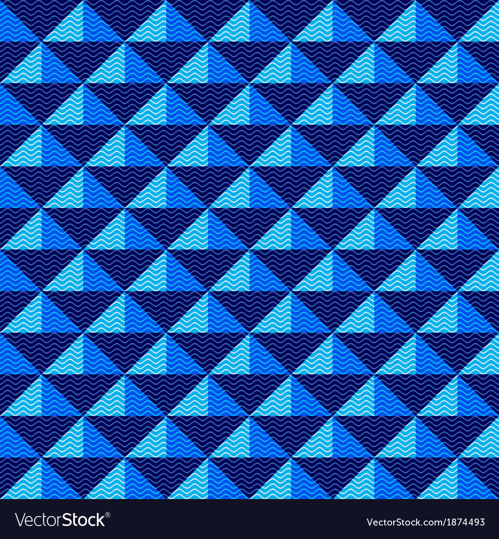 seamless dark blue geometric pattern royalty free vector