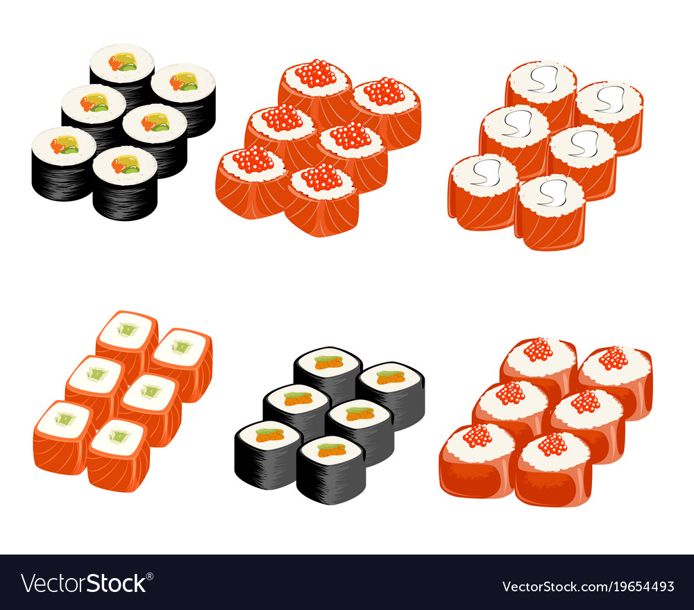 Set of different rolls
