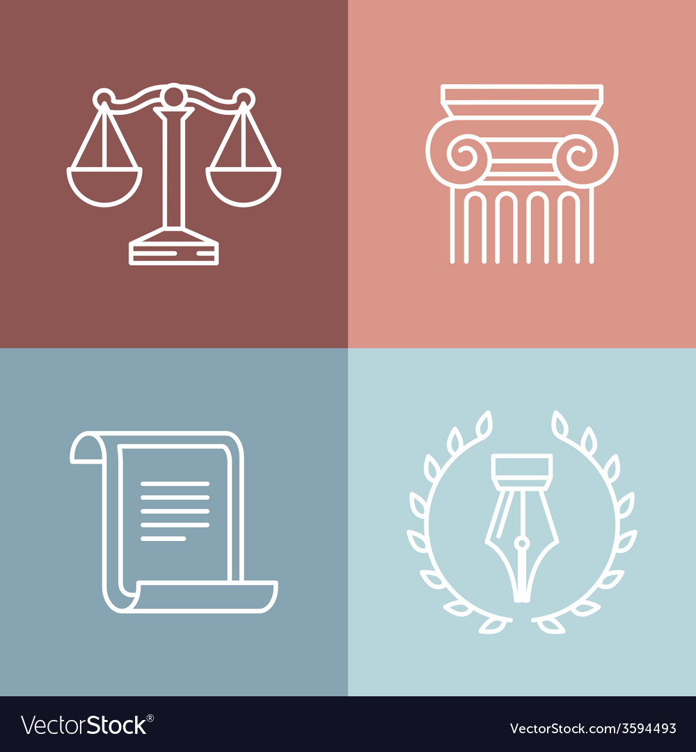 Set of juridical and legal logos
