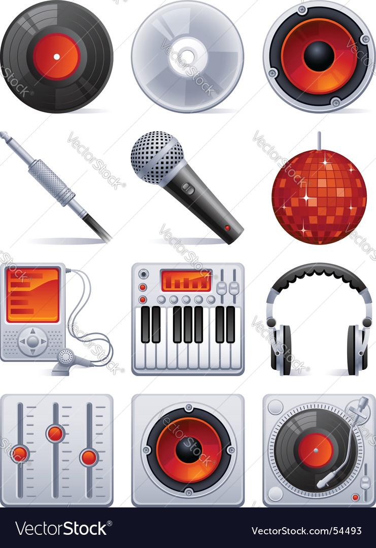 Sound icon set vector image