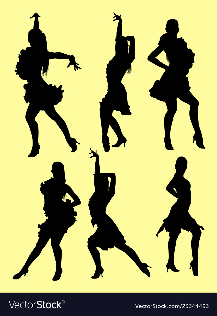 Tango Salsa Dancer Silhouette Royalty Free Vector Image