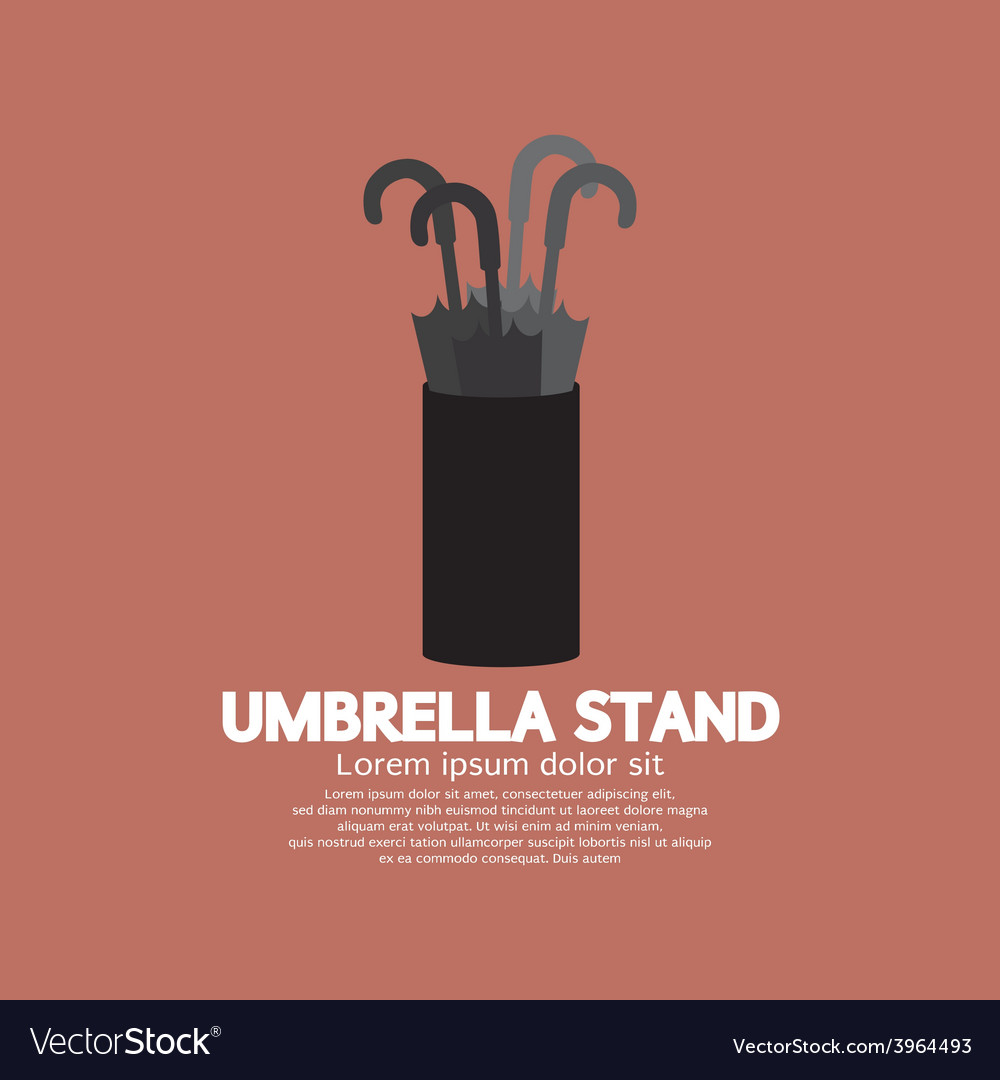 Umbrella Stand Royalty Free Vector