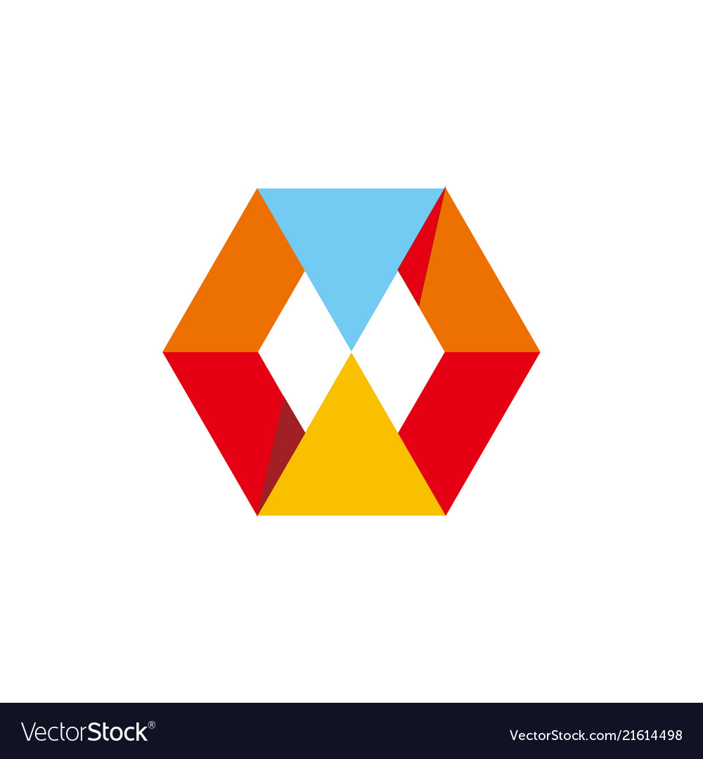 Abstract polygon business logo